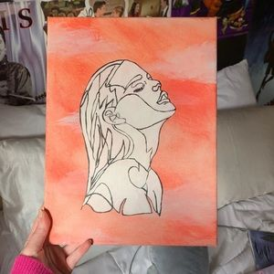 Outline Woman Painting